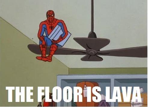 spiderman floor is lava